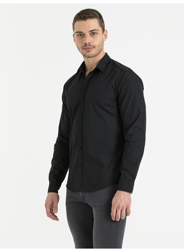 Loft Uzun Kollu Gömlek Siyah